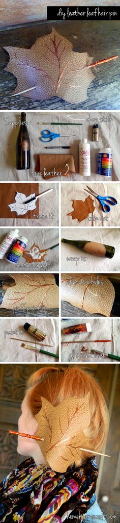 Home is Where the Crafts Are Leather Gifts, Leather Jewelry, Wiccan Crafts, Leather Leaf, Heart Crafts, Leather Flowers, Hair Accessories For Women, Craft Tutorials, Craft Ideas