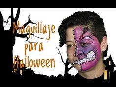 ▶ Maquillaje para Halloween: un Monstruo - Halloween Monster Face Painting - YouTube