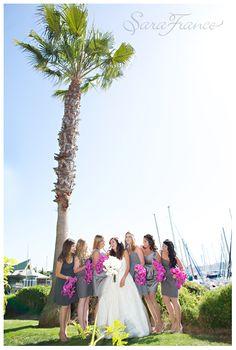 Bali Hai Wedding Sara France Photography San Go Bride Bridesmaids Palm