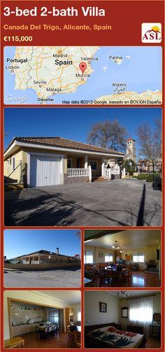 3-bed 2-bath Villa in Canada Del Trigo, Alicante, Spain ►€115,000 #PropertyForSaleInSpain