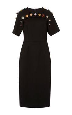 Button Detail Midi Dress by DOLCE & GABBANA