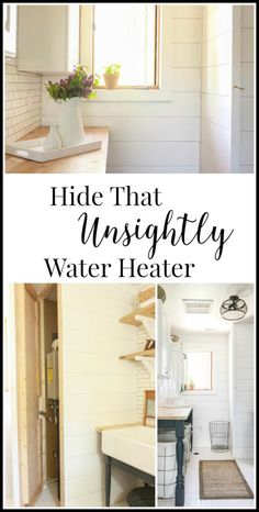 Sara from Twelve on Main provides a full tutorial for hiding the hot water heater