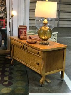"Vintage Burlwood Dresser   46"" Wide x 22"" Deep x 26"" High   $175  Booth #888  Lula B's in the OC! 1982 Ft. Worth Ave. Dallas, TX 75208"