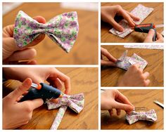 DIY bows hair.. Actually works so well!