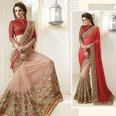Indian Ethnic Bollywood Designer bridal #Pakistani #Saree Unstiched #Blouse Fabrics