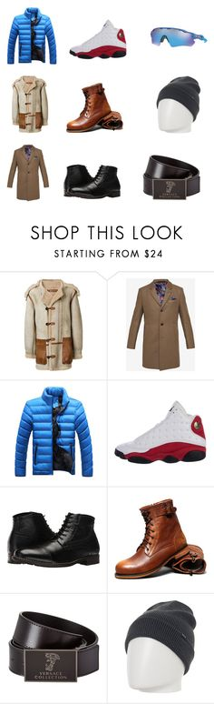 """""""The faces of the man"""" by florsdepaper-1 ❤ liked on Polyvore featuring Yeezy by Kanye West, Ted Baker, NIKE, Nunn Bush, Versace, Oakley, men's fashion and menswear"""