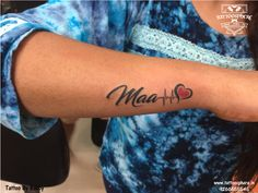 Tattoosphere is one of the finest & professional tattoo Shop in Delhi. We Are Best Permanent Tattoo Maker in Delhi Mom Dad Tattoo Designs, Maa Tattoo Designs, Tattoo Designs For Girls, Mom Tattoo Quotes, Mom Dad Tattoos, Heartbeat Tattoo With Name, Heartbeat Tattoo Design, Family Tattoos For Men, Tattoos With Kids Names