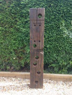 Reclaimed oak railway sleeper wine rack! As sold by andwineknot at etsy.com!