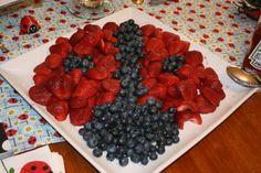 Ladybug fruit plate