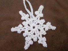 Quick Picot snowflake. Free pattern.