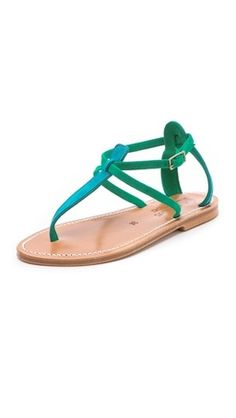Green Sandals by #K.Jacques