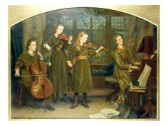The Home Quartett, 1882 (Mrs.Vernon Lushington and her daughters), Arthur Hughes