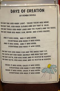 Hands On Bible Teacher---Days of Creation Song, by Ronda Duvall Gods Creation Crafts, Creation Preschool Craft, 7 Days Of Creation, Preschool Bible Lessons, Bible Lessons For Kids, Bible Activities, Bible For Kids, Creation Bible Lessons, Sunday School Projects