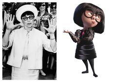 Edith Head inspiration for the character Edna Mode from The Incredibles