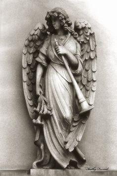 Christian Angel Art Photos - Archangel Gabriel Angel Art Photography Print By Kathy Fornal