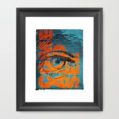 """""""Come and See"""" Digital Graphic Design Art Quote Print Typography Illustration Blue Orange"""