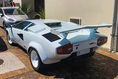 Lamborghini Countach in white is just the business and perfect for (oops its Tuesday) Wing Wednesday, Tuesday, Zero 2, Wolf Of Wall Street, Car Ins, Exotic Cars, Lamborghini, South Africa, Business