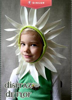 Disfraz de flor  #peques #costura #Singer