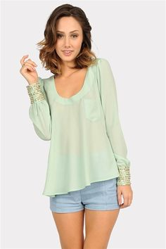Speckle Cap Sleeve Top - Mint from Necessary Clothing with 10% discount @ http://www.studentrate.com/itp/get-itp-student-deals/Necessary-Clothing-Student-Discount--/0