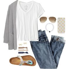 A fashion look from September 2015 featuring American Eagle Outfitters t-shirts, J.Crew jeans and Margaret O'Leary. Browse and shop related looks.