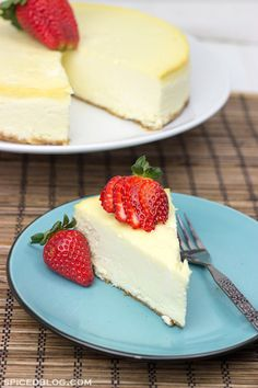 Classic Cheesecake with Graham Cracker Crust | Spicedblog.com