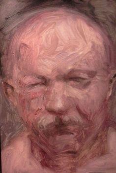 """""""Cabeza"""" - 2016 - óleo sobre cartón - 21 x 30 cm"""
