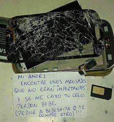 """""""Se Me Cayó Tu Celu"""" - #Memes  http://www.vivavive.com/se-me-cayo-tu-celu/"""