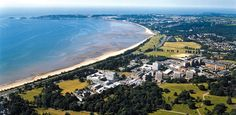 View of Swansea Uni, where I studied abroad in Wales!