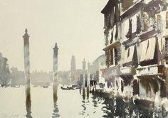 Edward Seago | Near the Rialto, Venice, watercolor