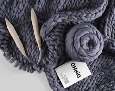 Watch HOW TO arm knit http://bit.ly/2lOE2E5  Merino Wool for Armknitting. 3 inch stitch. Giant knit. Fits for arm knitting. Merino wool.  This wool is super thick. Its for arm knitting. You do not need needles to knit. one stitch is around 3 inches.  Lets do extreme knitted things by yourself!  EASY, FAST, FUN, DIY !  How much wool do I need? Blanket 30*50 inches — 2 kg (4.4 lb) Blanket 48*48 inches — 3 kg (6.6 lb) Blanket 58*58 inches — 4 kg (8.8 lb) Blanket 64*80 inches — 7 k...