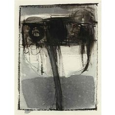 Eva Hesse  UNTITLED, 1961  gouache, ink and conté crayon on paper  6 1/8 by 4 1/2 in. 15.2 by 11.4 cm.