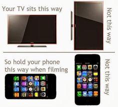 Elke dag worden potentiële virale video's geruïneerd omdat de persoon die het filmpje maakte de telefoon op de verkeerde manier vasthoudt. Verkeerd = Verticaal ipv horizontaal.