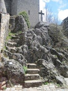 The Churchyard steps in La Couvertoirade