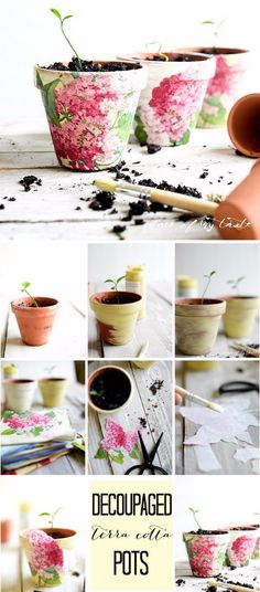 Beautify Your Home And Garden With These Awesome DIY Flower Pots...there are links to many different decorating flower pot DIY tutorials!!