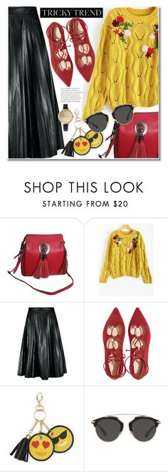 """Untitled #1913"" by aida-nurkovic ❤ liked on Polyvore featuring Under One Sky and Christian Dior"