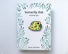 Enamel Pin Butterfly Fish Soft Enamel Pin