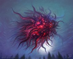 Nug and Yeb, the Twin Blasphemies, are the spawn of Shub-Niggurath andYog-Sothoth. Nug is the parent of Cthulhu and the parent of Kthanid via the influence of Yog-Sothoth. Nug is a god among ghouls, while Yeb is the leader ofAbhoth's alien cult. Arte Horror, Horror Art, Dark Fantasy Art, Dark Art, Yog Sothoth, Science Fiction, Lovecraftian Horror, Eldritch Horror, Hp Lovecraft