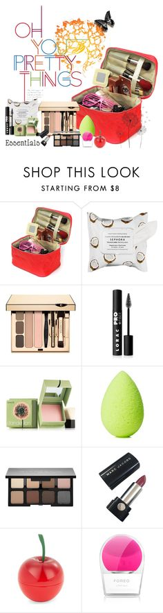 """Oh you pretty things"" by no-where-girl ❤ liked on Polyvore featuring beauty, Sephora Collection, Clarins, LORAC, Benefit, beautyblender, Smashbox, Marc Jacobs, Tony Moly and FOREO"
