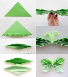 DIY Tutorial DIY Origami / DIY Paper Butterfly Garland - Bead&Cord