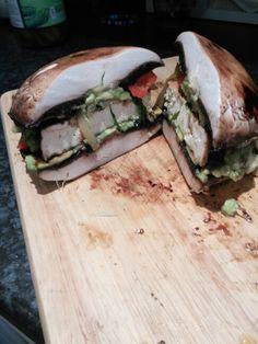 Tofu burger with Portobello Mushroom bun