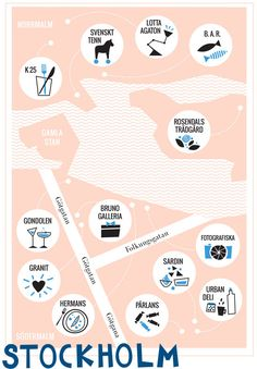 stockholm guide / designlovefest♥ Loved by www.miekinvorm.nl || illustration, handlettering + design