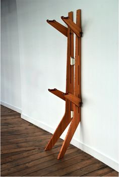 wooden bike rack.