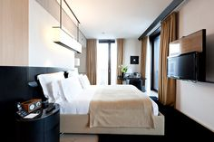 Bulgari Hotel in Milan, Italy. The rooms have a Zen-like quality.