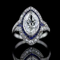Marquise Cut - Antique Jewelry University- ummmmmm all I can say is WOW that is a stunner!