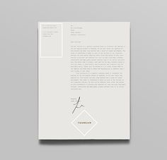 Letterhead with gold and silver foil detail for British multinational venture capital firm Tourean designed by Anagrama.