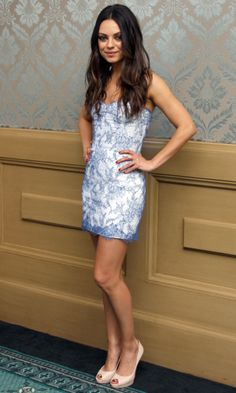 Mila Kunis At A Friends With Benefits Photocall, 2011 -- love her lavender & white floral mini dress