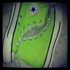 My neon high-cut converse
