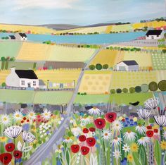 I like the bright colours of this painting from Janet Bell gallery.