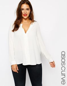 ASOS CURVE Exclusive Blouse With Pintuck Detail