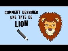 Comment dessiner une tête de lion - YouTube